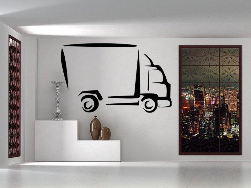 Samolepky na zeď Dodávka 0730 - Samolepící dekorace a nálepka na stěnu