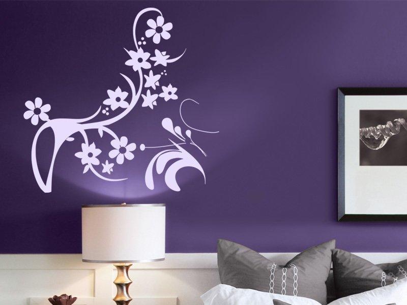 Samolepky na zeď Ornamenty z rostlin 043