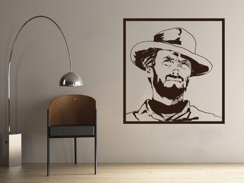 Samolepky na zeď Clint Eastwood 001 - Samolepící dekorace a nálepka na stěnu