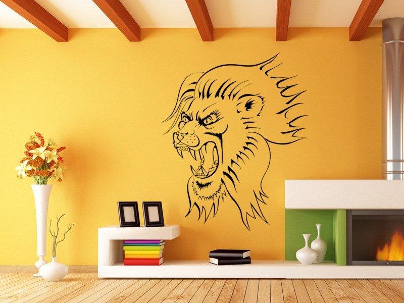 Samolepky na zeď Lev 002 - Samolepící dekorace a nálepka na stěnu