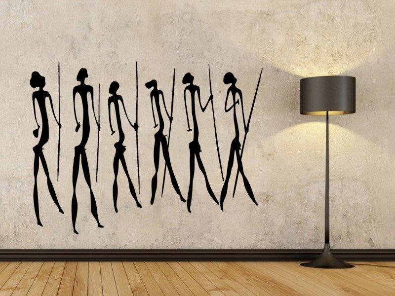 Samolepky na zeď Jeskynní lidé 003 - Samolepící dekorace a nálepka na stěnu