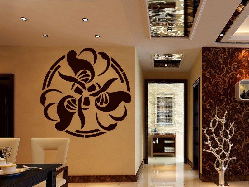 Samolepky na zeď Ornamenty z rostlin 012 - Samolepící dekorace a nálepka na stěnu