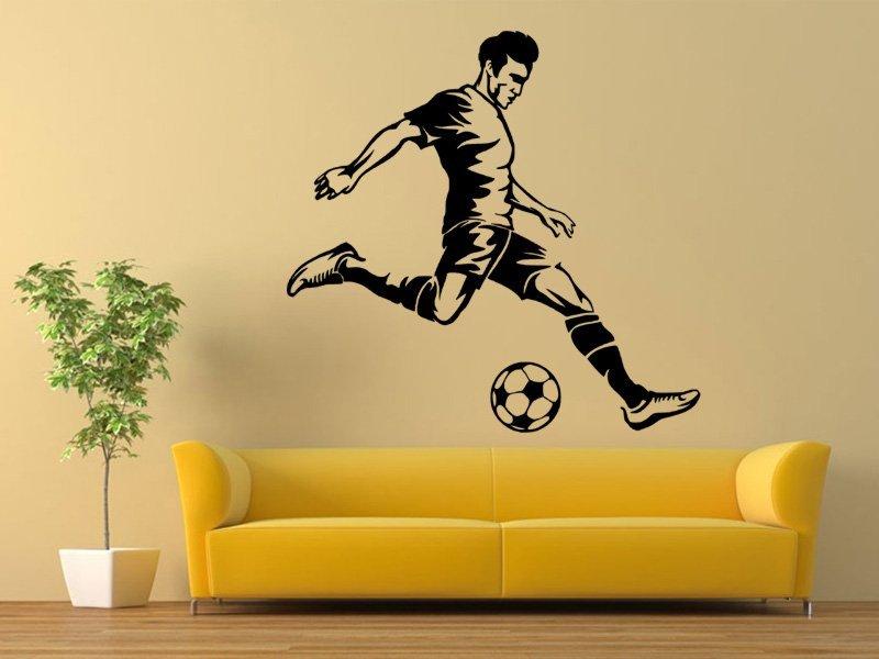 Samolepky na zeď Fotbalista 0583 - Samolepící dekorace a nálepka na stěnu