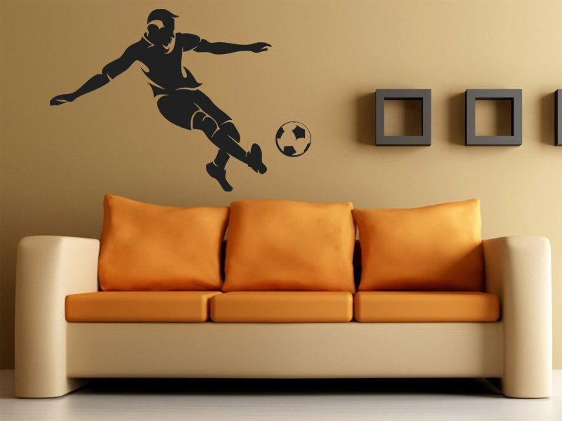 Samolepky na zeď Fotbalista 008 - Samolepící dekorace a nálepka na stěnu