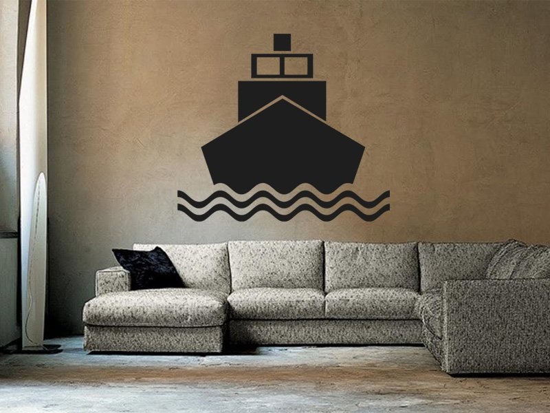 Samolepky na zeď Loď 007 - Samolepící dekorace a nálepka na stěnu