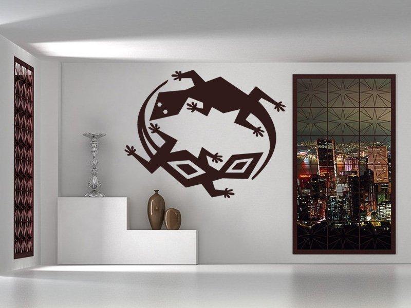 Samolepky na zeď Ještěrka 008 - Samolepící dekorace a nálepka na stěnu