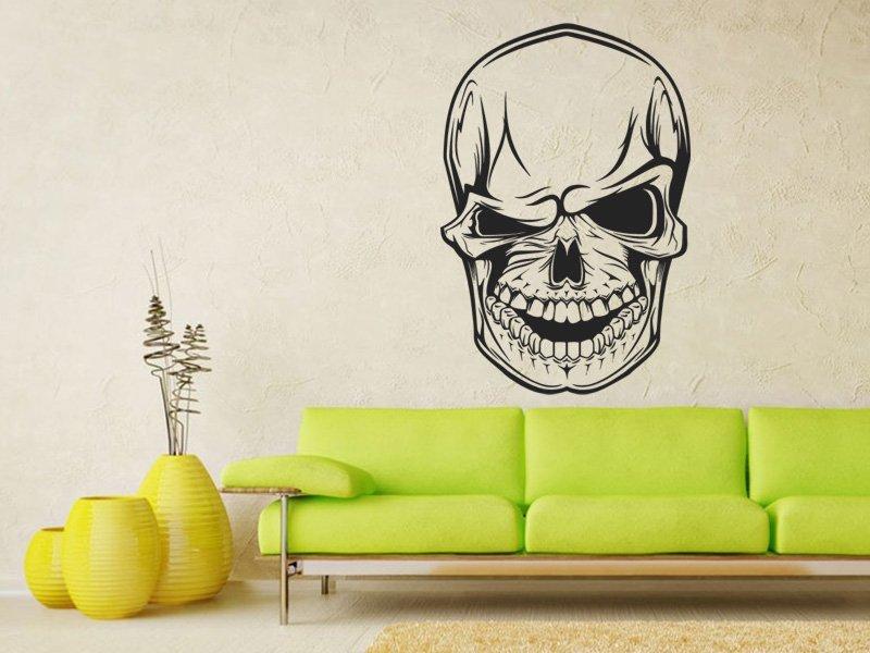 Samolepky na zeď Mrkající lebka 1157 - Samolepící dekorace a nálepka na stěnu
