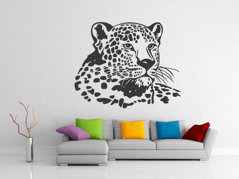 Samolepky na zeď Leopard 006 - Samolepící dekorace a nálepka na stěnu