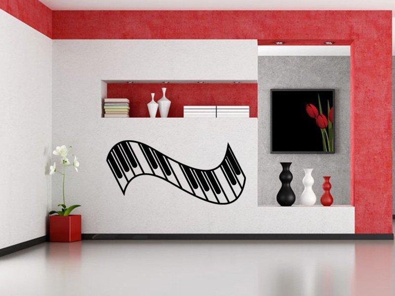 Samolepky na zeď Piano 007 - Samolepící dekorace a nálepka na stěnu