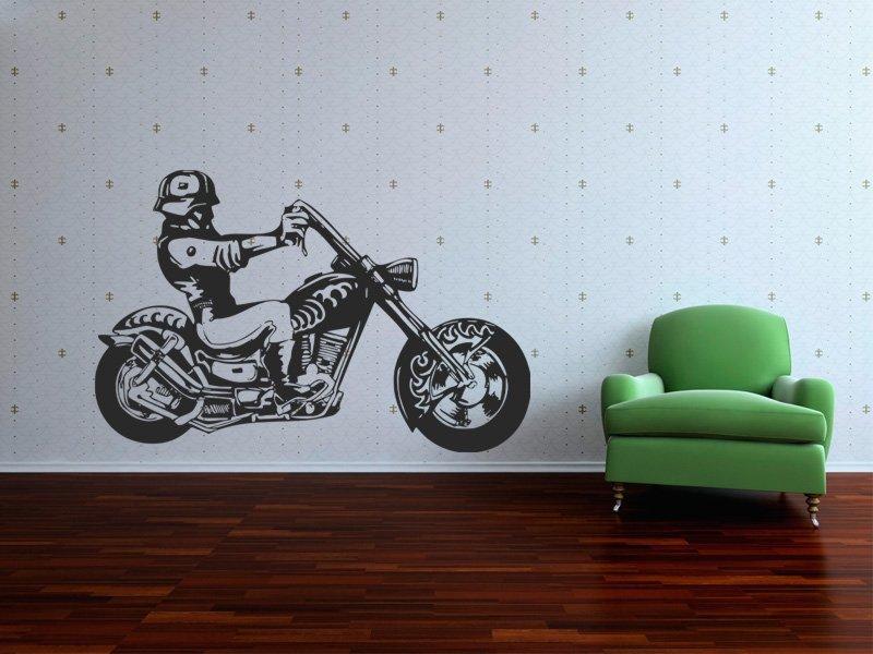Samolepky na zeď Motorka 009 - Samolepící dekorace a nálepka na stěnu