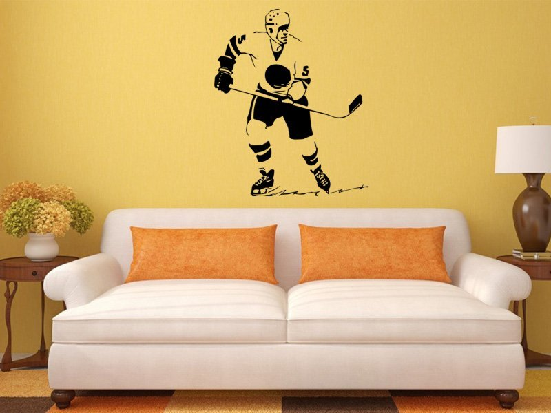 Samolepky na zeď Hokejista 005 - Samolepící dekorace a nálepka na stěnu