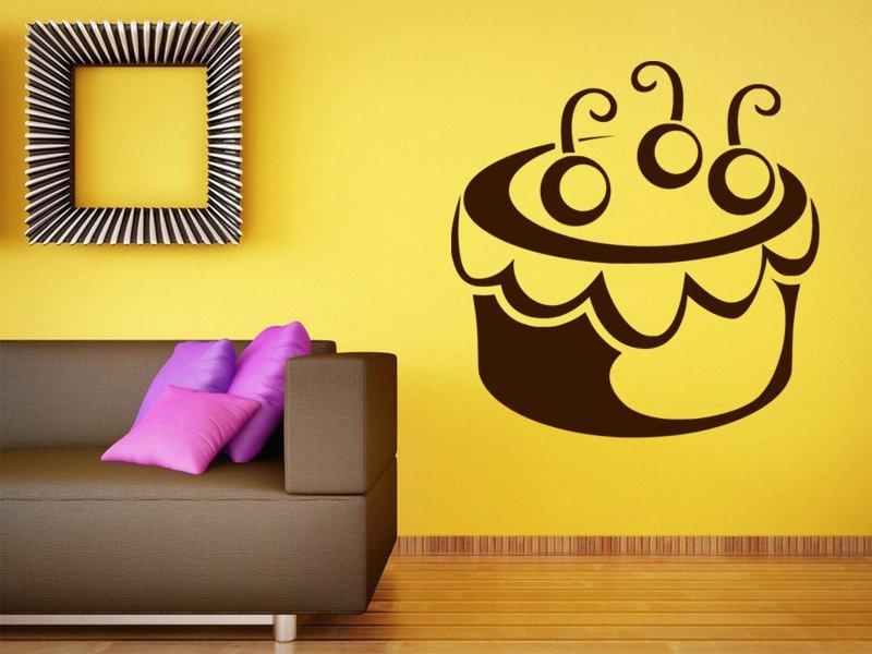 Samolepky na zeď Cupcake 0009 - Samolepící dekorace a nálepka na stěnu