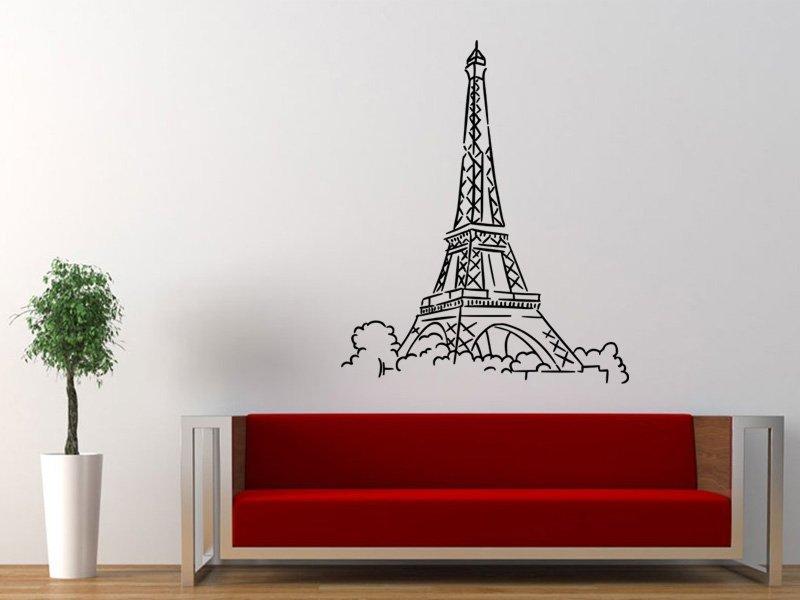 Samolepky na zeď Eifelova věž 003 - Samolepící dekorace a nálepka na stěnu
