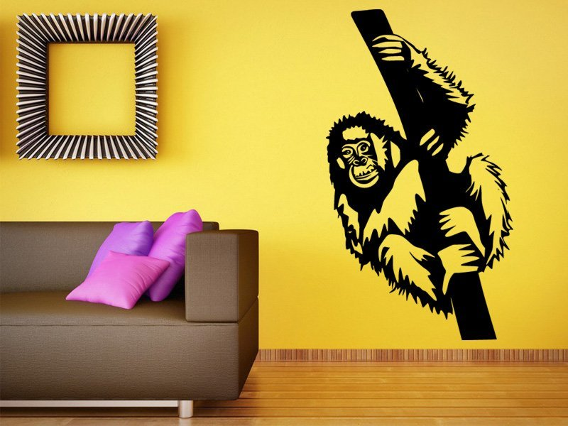 Samolepky na zeď Opice 001 - Samolepící dekorace a nálepka na stěnu