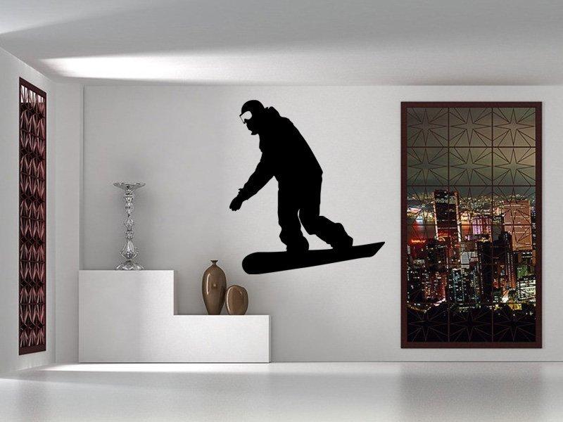 Samolepky na zeď Snowboardista 0970 - Samolepící dekorace a nálepka na stěnu