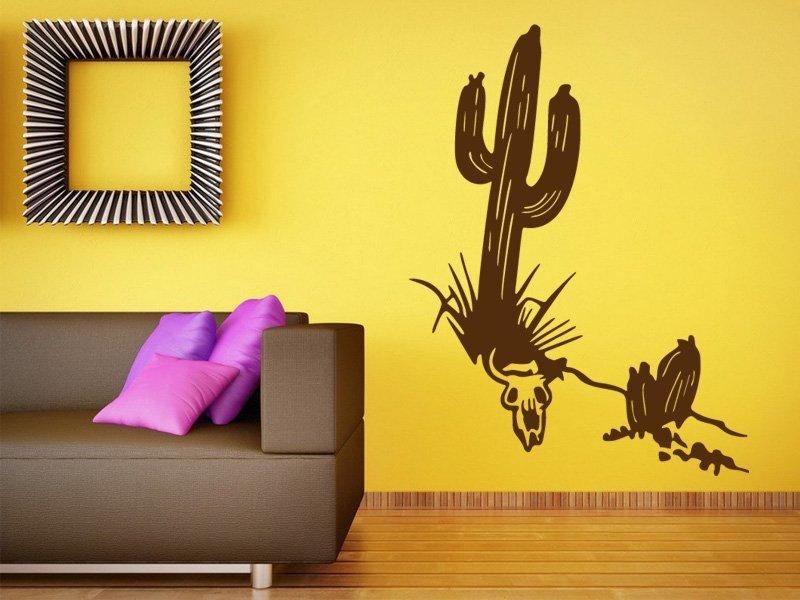 Samolepky na zeď Kaktus 001 - Samolepící dekorace a nálepka na stěnu