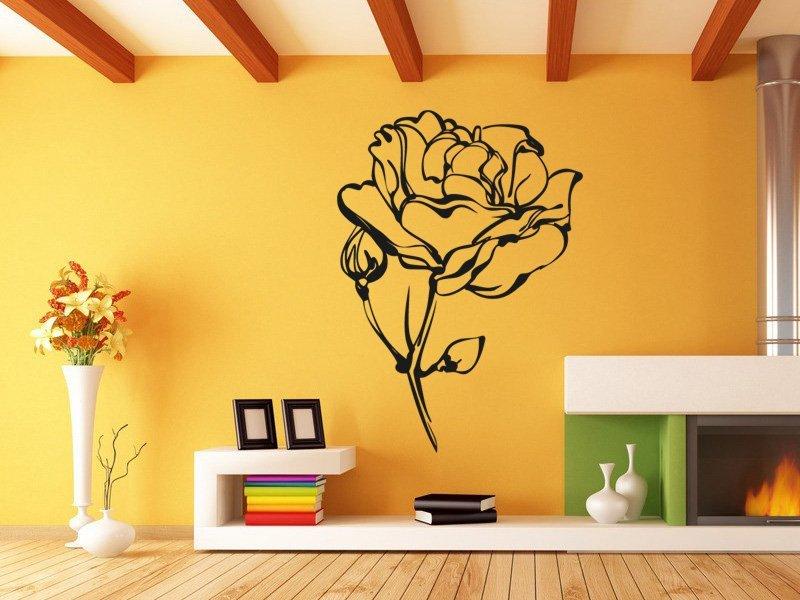 Samolepky na zeď Růže 013 - Samolepící dekorace a nálepka na stěnu