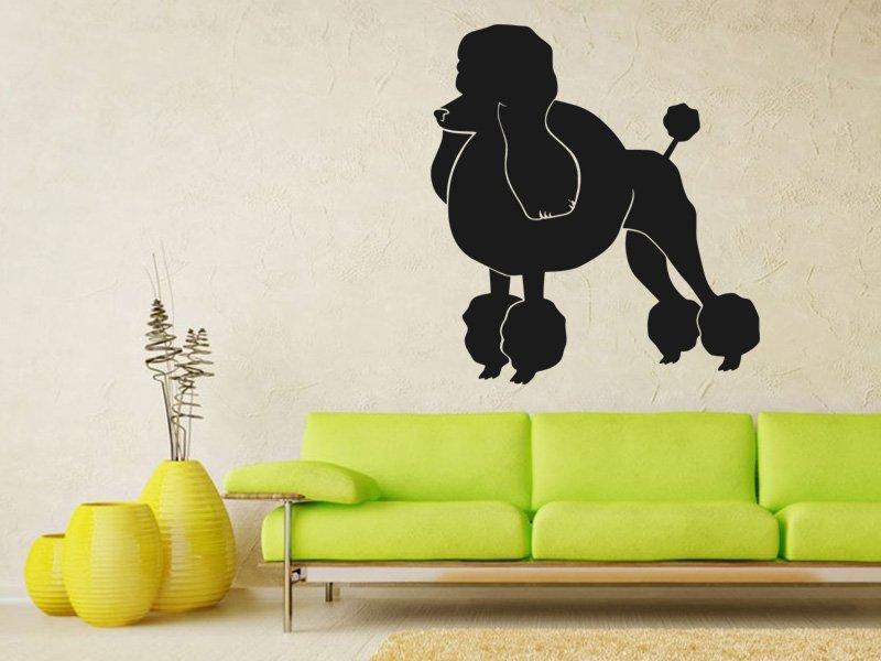 Samolepky na zeď Pudl 002 - Samolepící dekorace a nálepka na stěnu