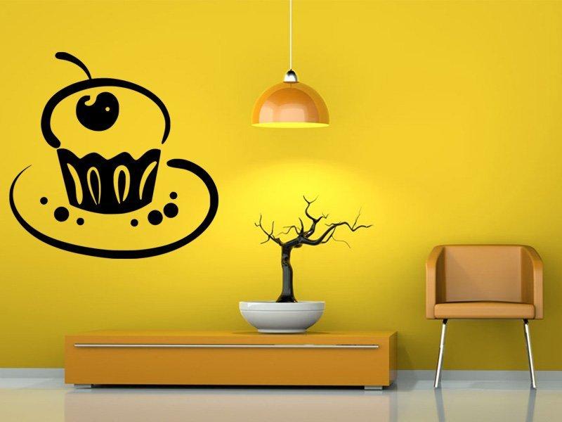Samolepky na zeď Dort 0012 - Samolepící dekorace a nálepka na stěnu