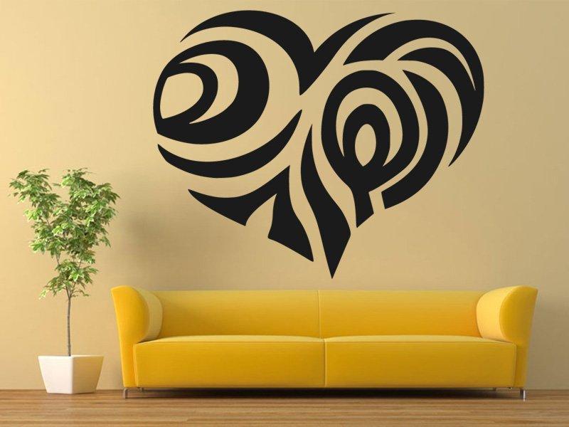 Samolepky na zeď Srdce 0261 - Samolepící dekorace a nálepka na stěnu