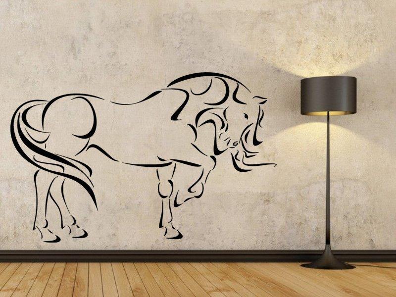 Samolepky na zeď Kůň 0338 - Samolepící dekorace a nálepka na stěnu
