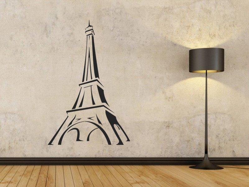 Samolepky na zeď Eifelova věž 002 - Samolepící dekorace a nálepka na stěnu