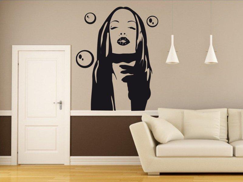 Samolepky na zeď Dívka 004 - Samolepící dekorace a nálepka na stěnu