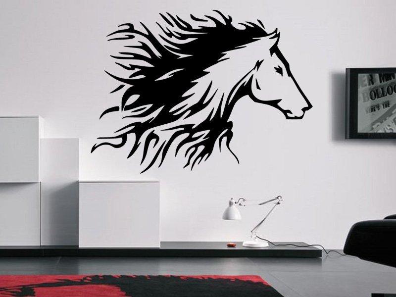 Samolepky na zeď Kůň 0340 - Samolepící dekorace a nálepka na stěnu