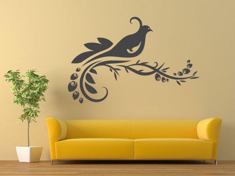 Samolepky na zeď Větev s ptáky 006 - Samolepící dekorace a nálepka na stěnu