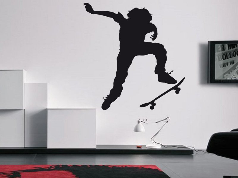 Samolepky na zeď Skateboardista 002 - Samolepící dekorace a nálepka na stěnu