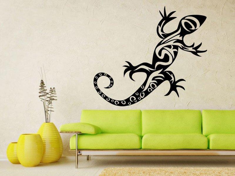 Samolepky na zeď Ještěrka 006 - Samolepící dekorace a nálepka na stěnu