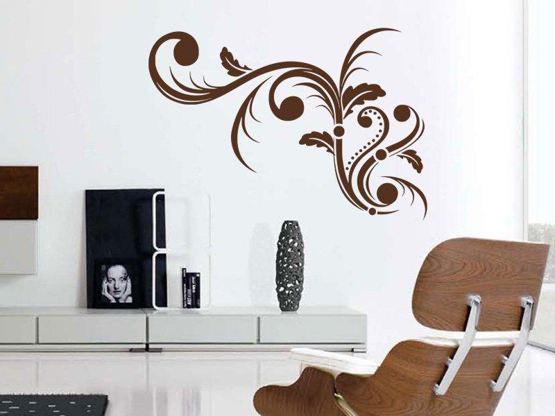 Samolepky na zeď Ornamenty z rostlin 005 - Samolepící dekorace a nálepka na stěnu