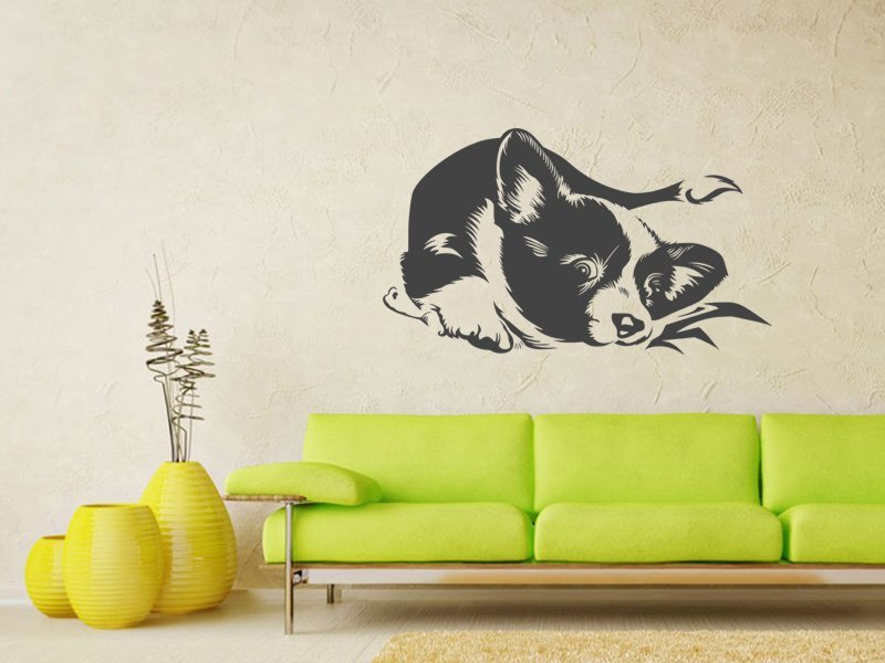 Samolepky na zeď Pes 012 - Samolepící dekorace a nálepka na stěnu