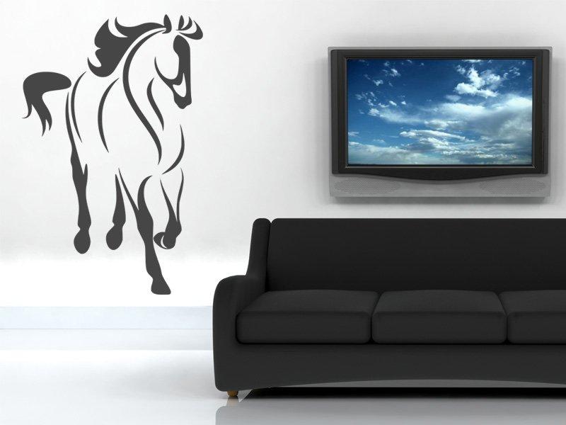 Samolepky na zeď Kůň 024 - Samolepící dekorace a nálepka na stěnu