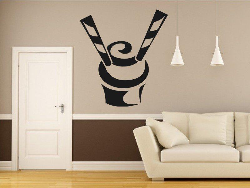 Samolepky na zeď Cupcake 0068 - Samolepící dekorace a nálepka na stěnu
