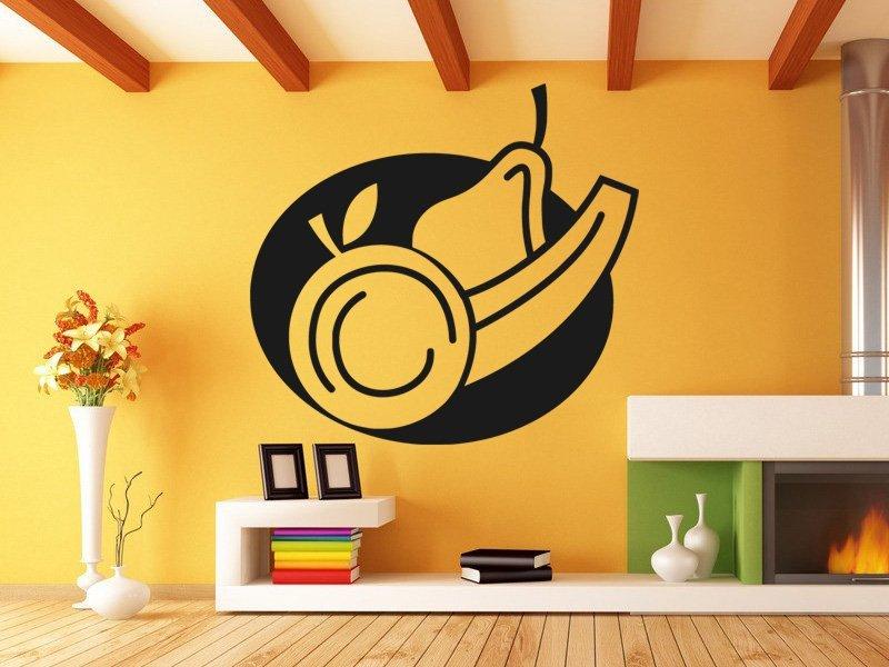 Samolepky na zeď Talíř ovoce 0112 - Samolepící dekorace a nálepka na stěnu