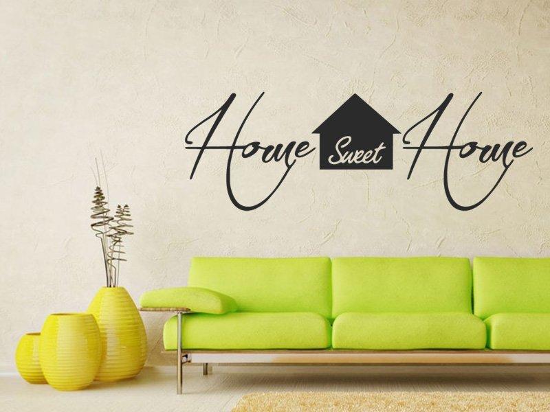 Samolepky na zeď Nápis Home Sweet Home 0630 - Samolepící dekorace a nálepka na stěnu