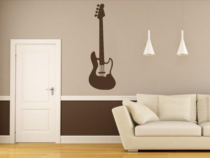 Samolepky na zeď Kytara 012 - Samolepící dekorace a nálepka na stěnu