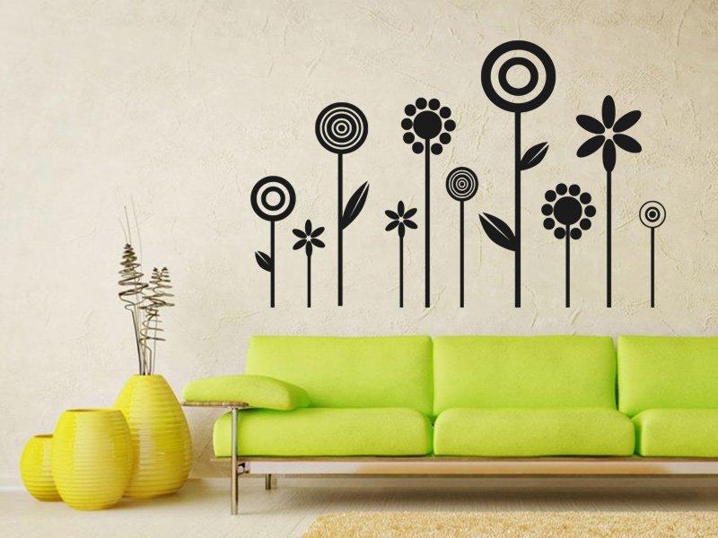 Samolepky na zeď Květiny 012 - Samolepící dekorace a nálepka na stěnu
