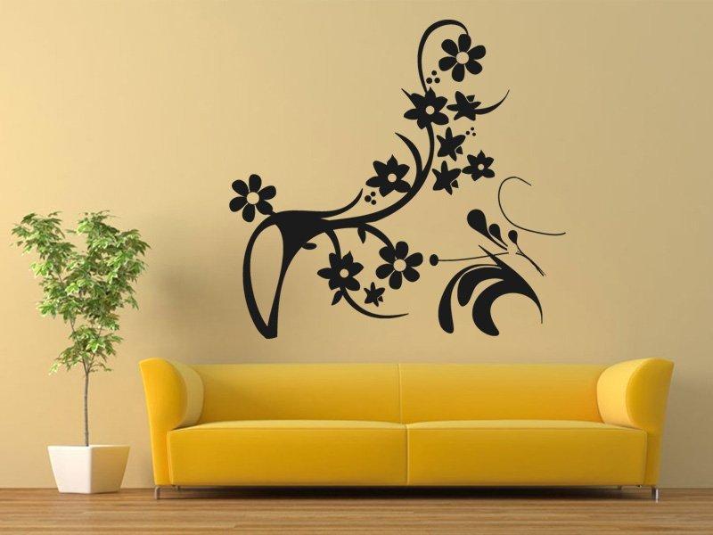 Samolepky na zeď Ornamenty z rostlin 043 - Samolepící dekorace a nálepka na stěnu
