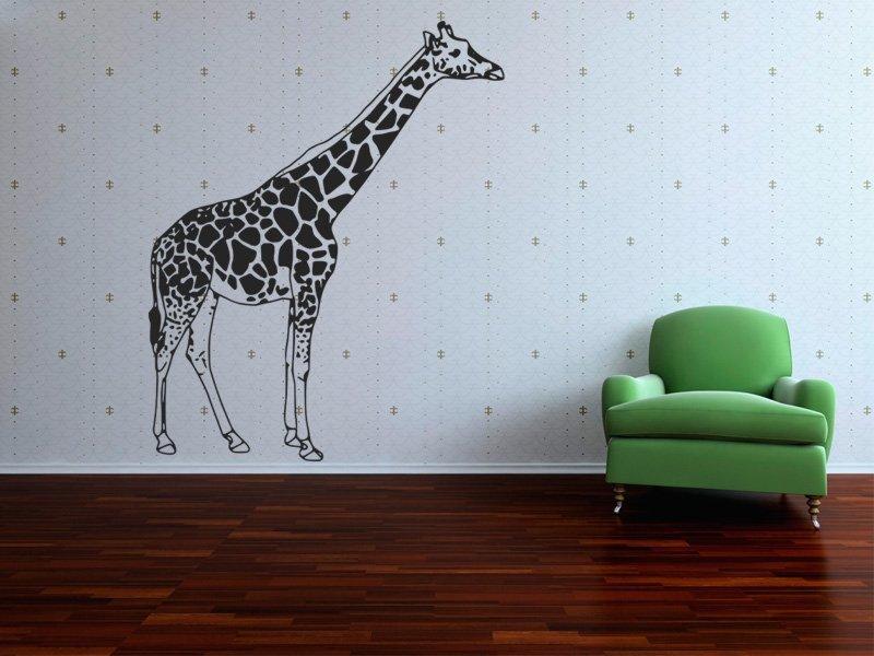 Samolepky na zeď Žirafa 002 - Samolepící dekorace a nálepka na stěnu