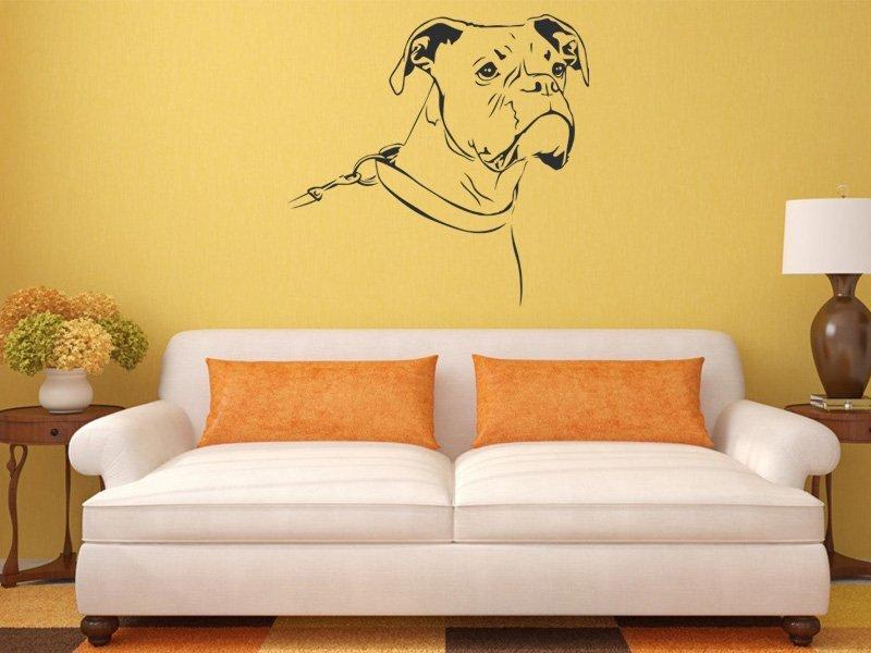 Samolepky na zeď Boxer 002 - Samolepící dekorace a nálepka na stěnu