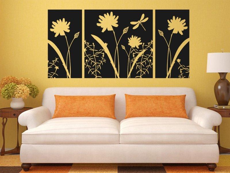 Samolepky na zeď Květiny 010 - Samolepící dekorace a nálepka na stěnu