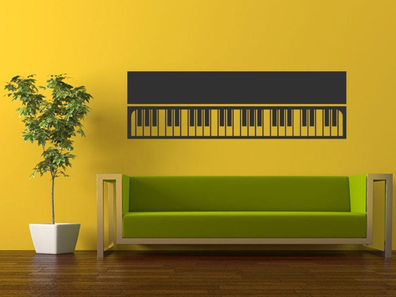 Samolepky na zeď Piano 008 - Samolepící dekorace a nálepka na stěnu