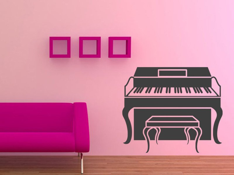 Samolepky na zeď Piano 010 - Samolepící dekorace a nálepka na stěnu