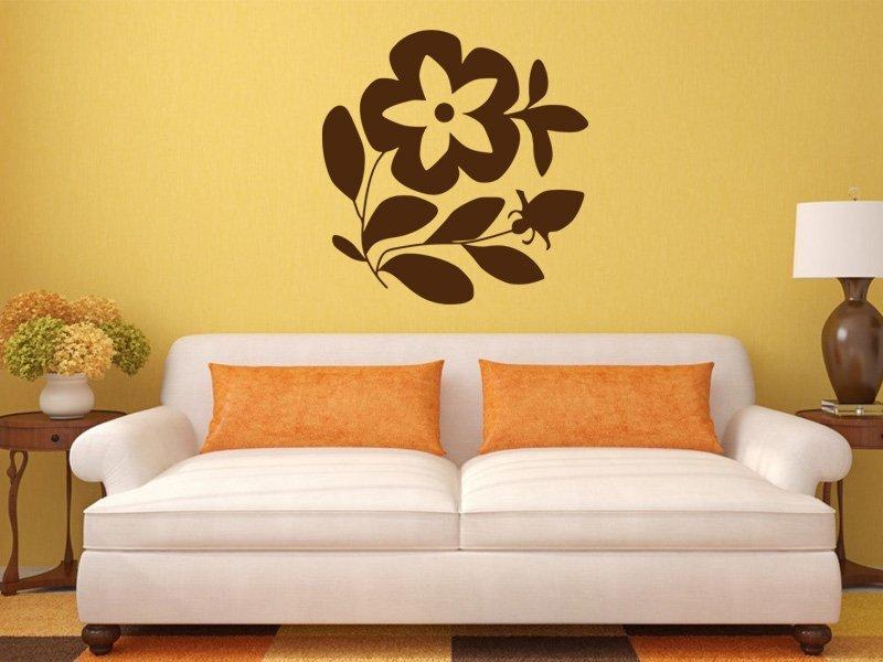 Samolepky na zeď Květiny 022 - Samolepící dekorace a nálepka na stěnu
