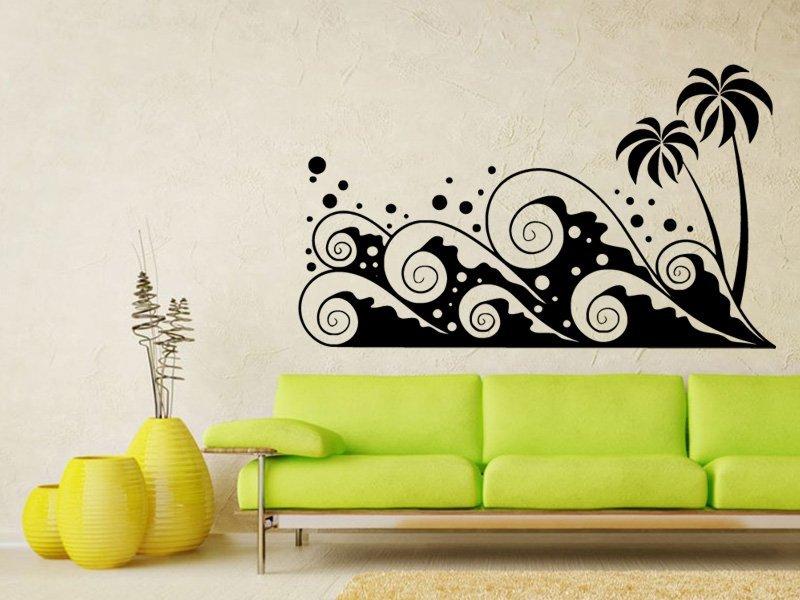 Samolepky na zeď Palmy 005 - Samolepící dekorace a nálepka na stěnu