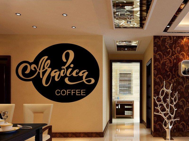 Samolepky na zeď Nápis Arabica coffee 0654 - Samolepící dekorace a nálepka na stěnu