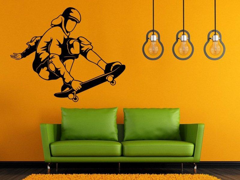 Samolepky na zeď Skateboardista 007 - Samolepící dekorace a nálepka na stěnu