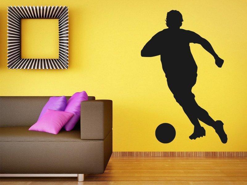 Samolepky na zeď Fotbalista 007 - Samolepící dekorace a nálepka na stěnu